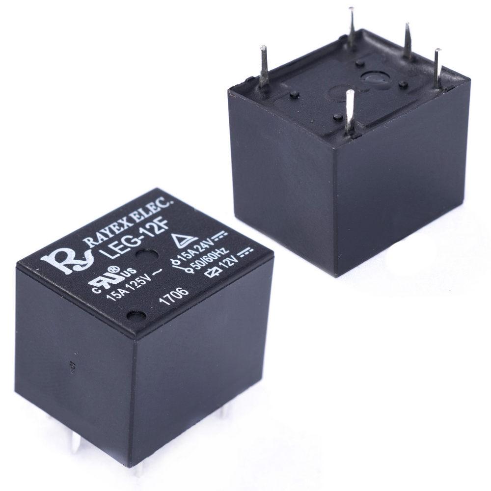 LEG-12F Relais elektromagnetisch SPDT USpule 12VDC 15A//120VAC Mini