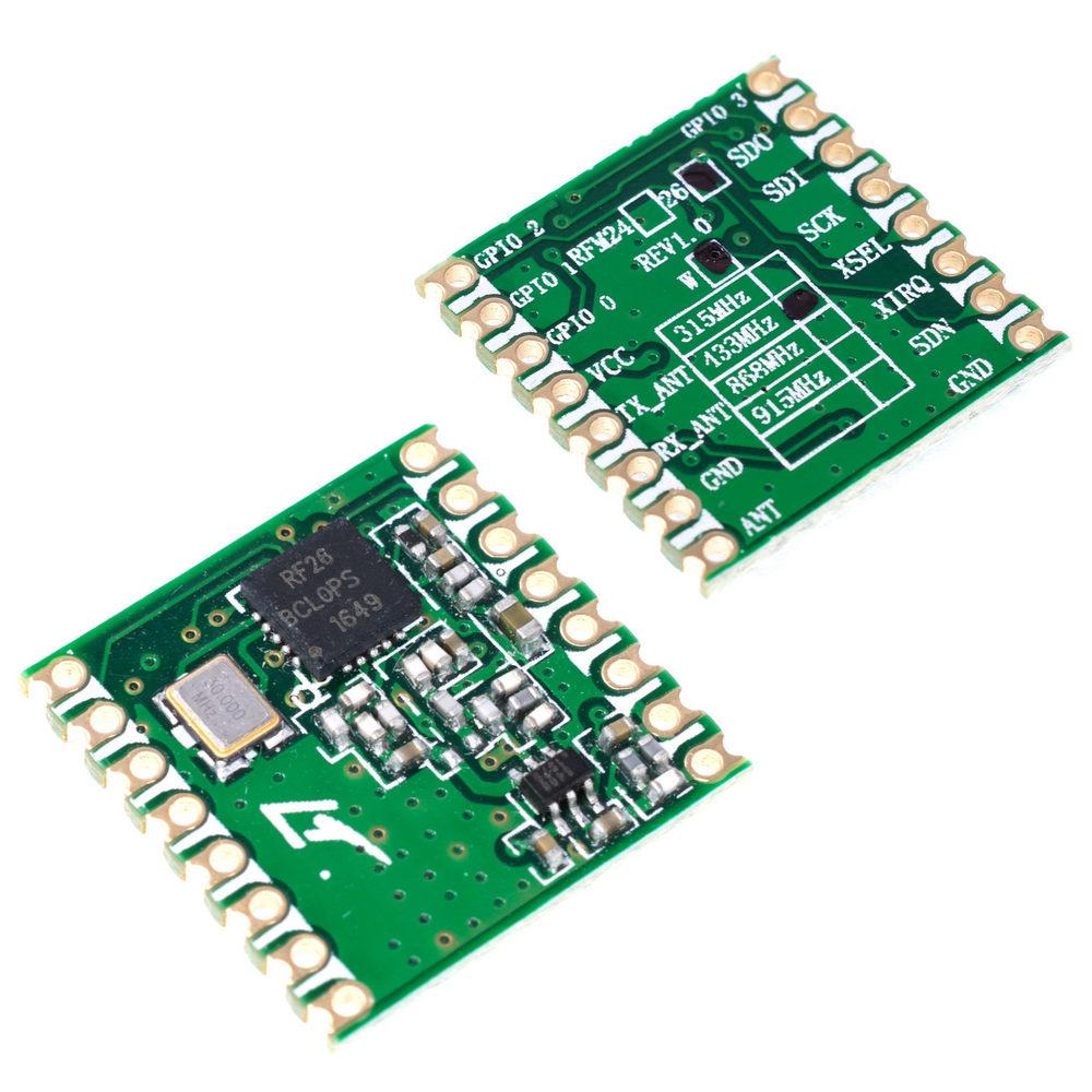 RFM26W-433-S2 HopeRF  433 MHz Transceiver-Funkmodul  FSK-Modulation TX//RX SPI