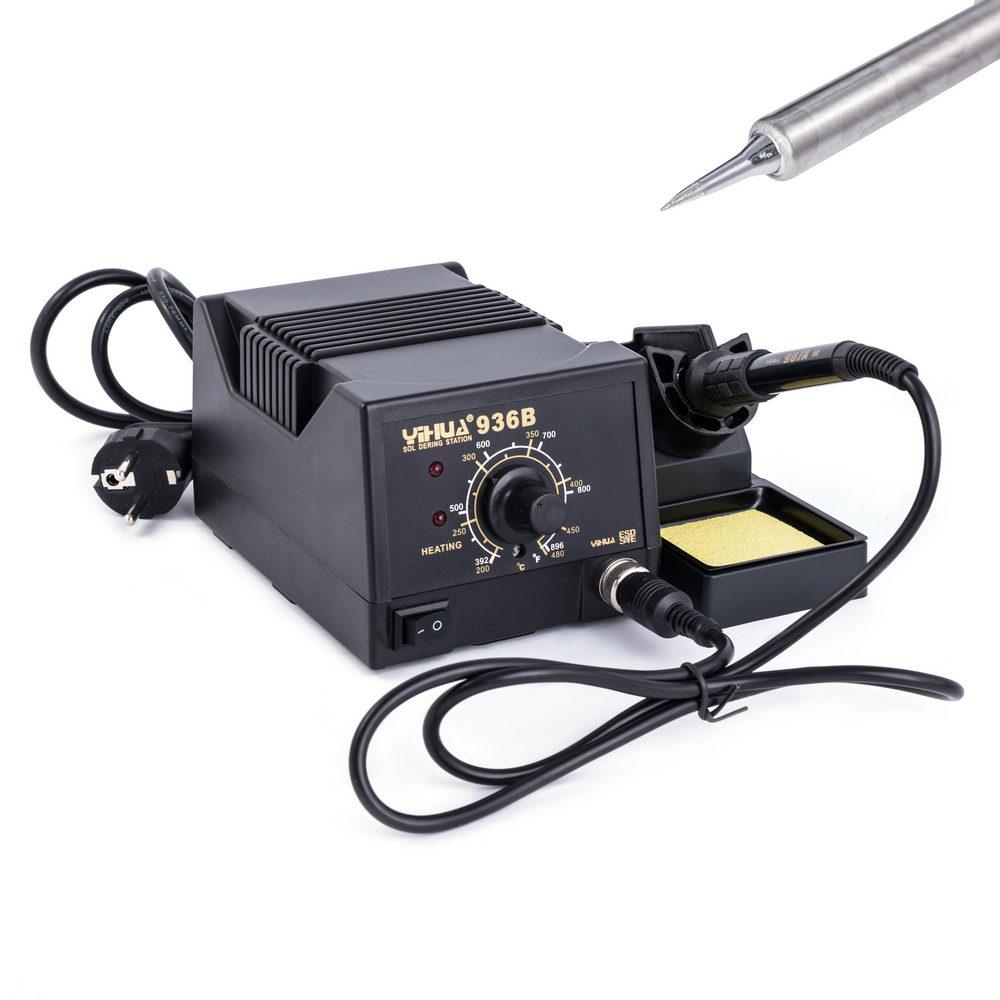 60W 200-480℃ Lötkolben Lötstation Digitale Regelbare ESD mit 6 Spitzen 220-240 V